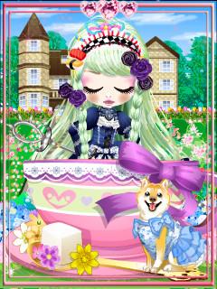 私、今度も水色の姿てワンコ×くんくんと一緒にティーパーティ~イ咲く洋館アリスの薔薇園~