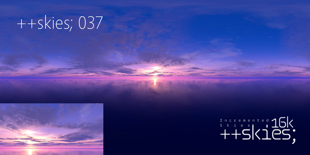 [HDR形式あり] ++skies; 037 [16k8k/8k4kスカイドーム素材配布]