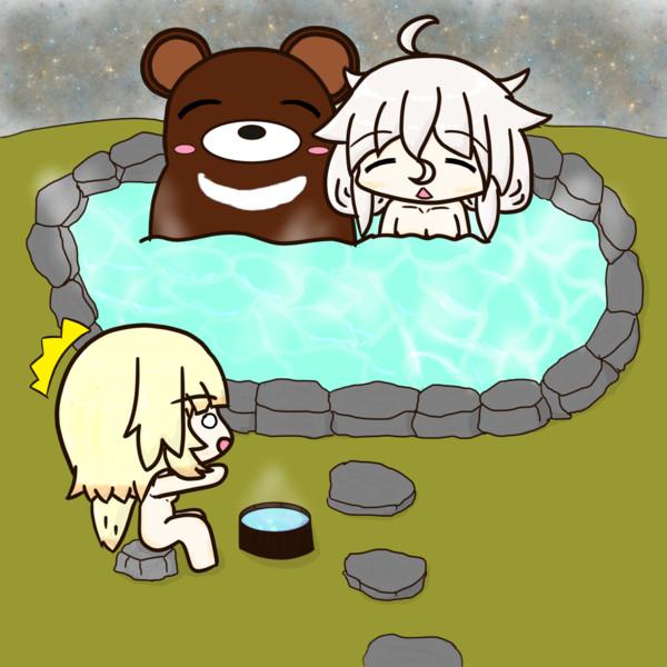 姉妹で温泉