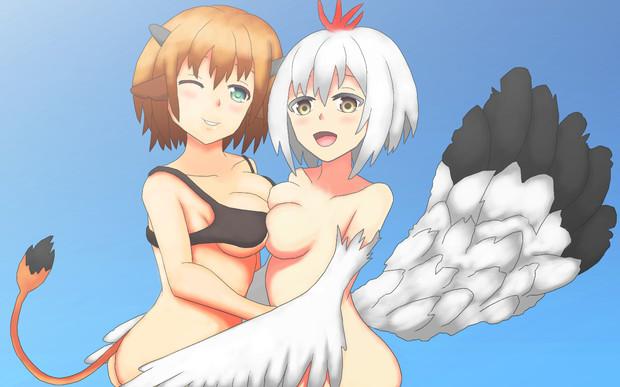 牛さんと鳥さん