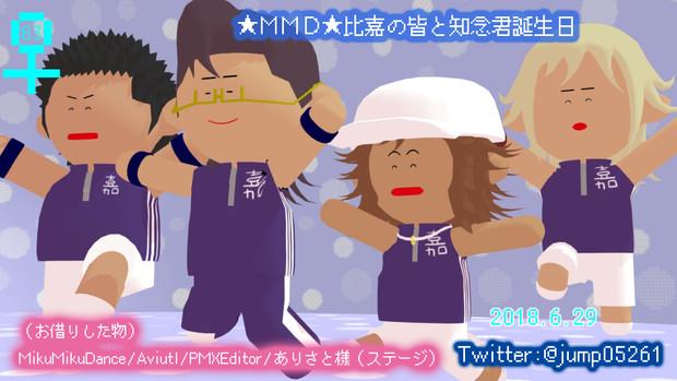 ★MMD★比嘉の皆と知念君誕生日(自作モデル)