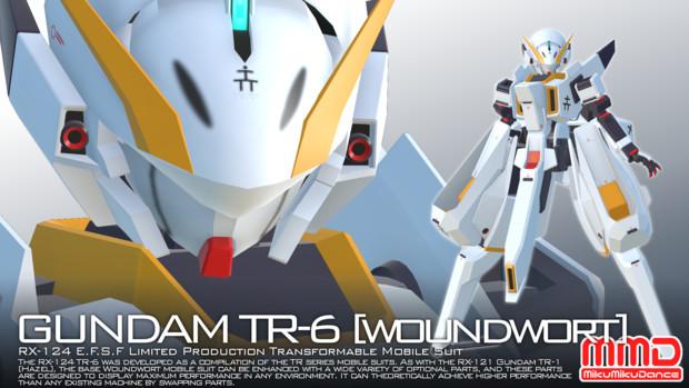 【配布】ガンダムTR-6[ウーンドウォート]【MMDガンダム】