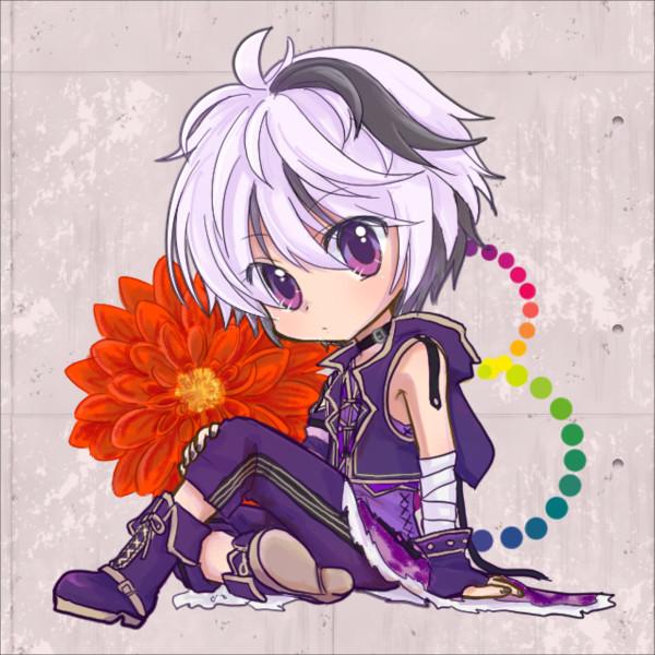v flowerさん