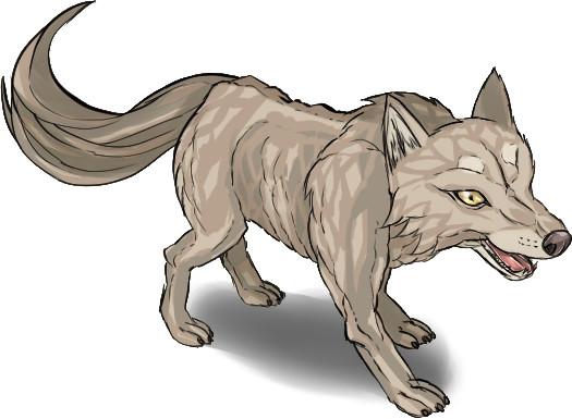 ♣フリー素材♣モングラ/オオカミ