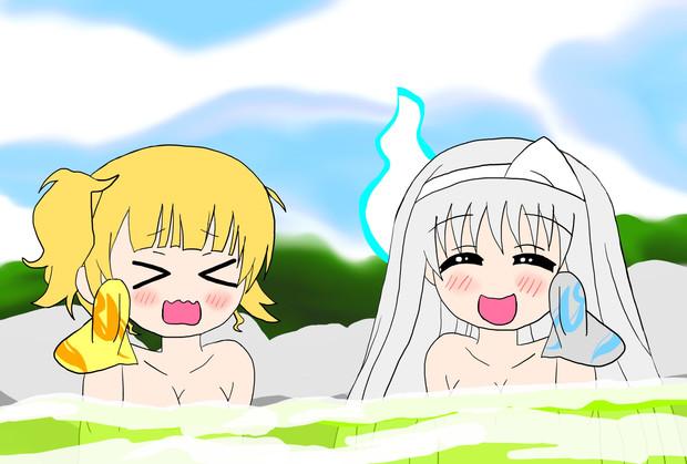 シャロと幽奈さんの温泉回