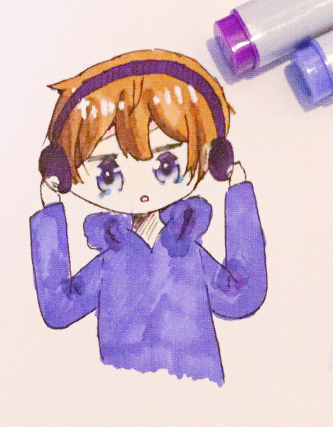 ヘッドフォン × ななもりさん