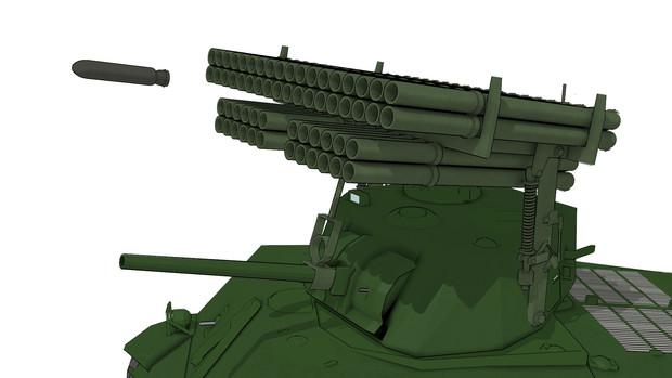 【MMD陸軍】T34カリオペ改造キット【モデル配布】