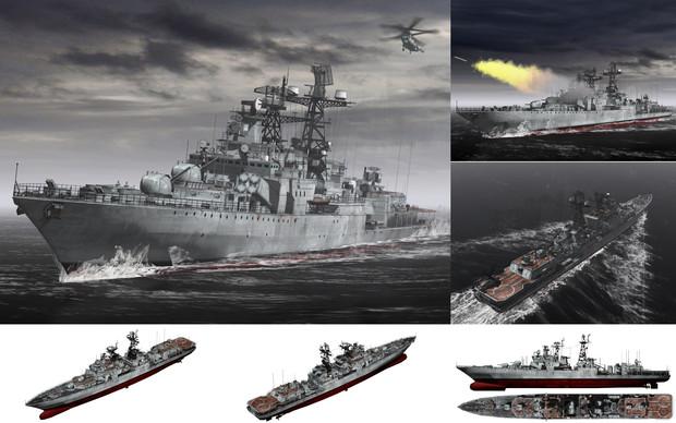 MMD用モブミサイル駆逐艦1980(モブロイ)セット