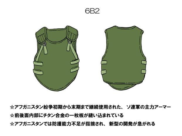 ソ連軍ボディアーマー 「6B2」