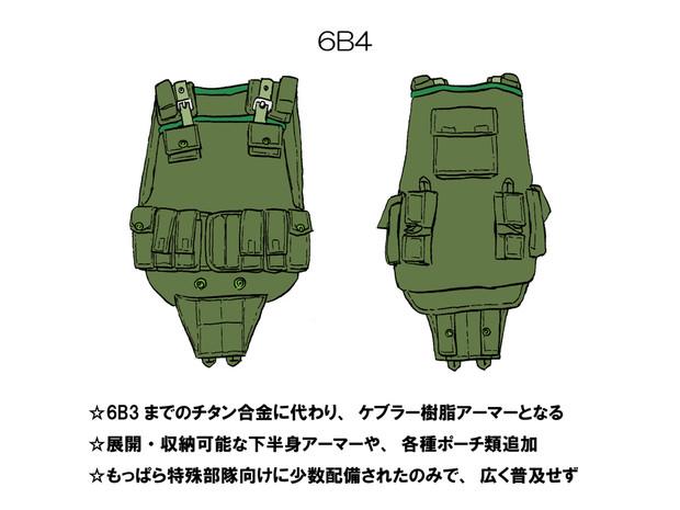 ソ連軍ボディアーマー 「6B4」
