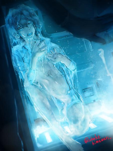 最近暑いので冷蔵庫で冷やしてあげました……