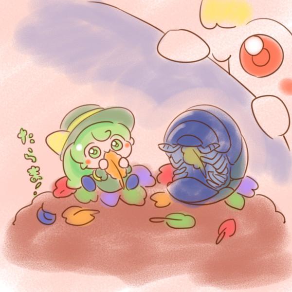 ダンゴムシにおもてなしされるこいしちゃん