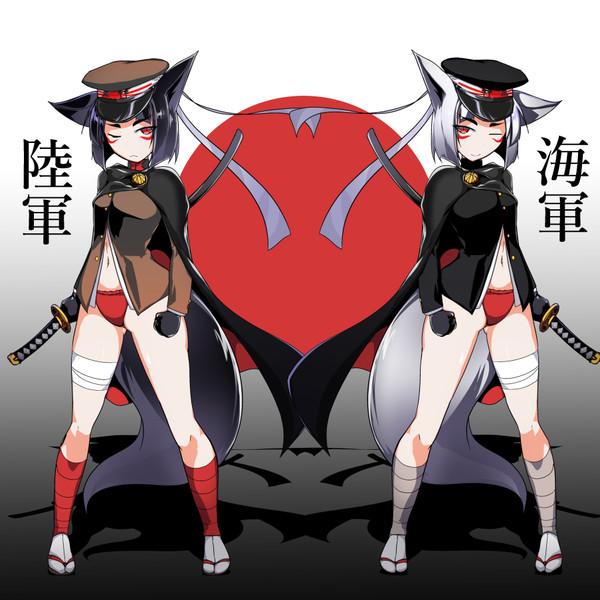 ジャポンちゃん 海軍版と陸軍版