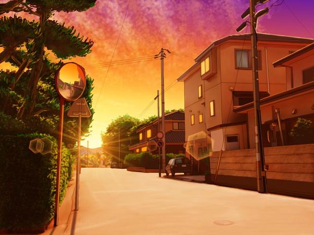 黄昏の住宅街 ひでみん さんのイラスト ニコニコ静画 イラスト