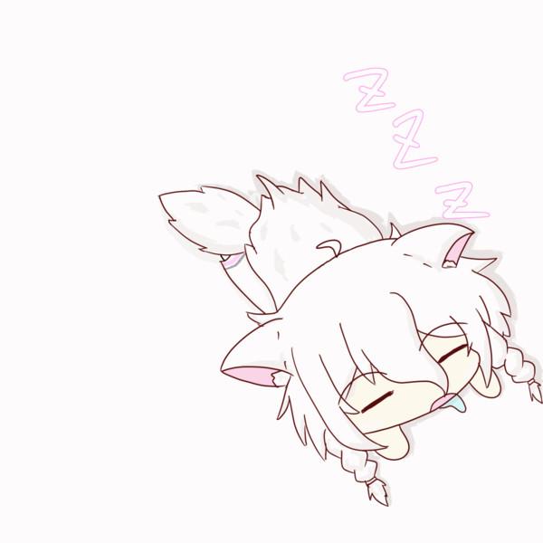 【IA&ONE】お昼寝わんこ【GIFアニメ】