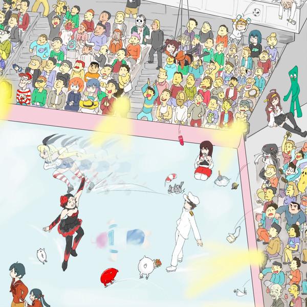 ガンビーを探せ氷祭り(色付き)