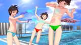 【MMD】あさぬ式ショタバニー用競泳パンツ【モデル配布】