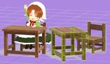 【MMD】小さい机とイス【アクセサリ配布】