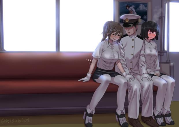足柄「提督、他の座る人が困らないように詰めるわね」