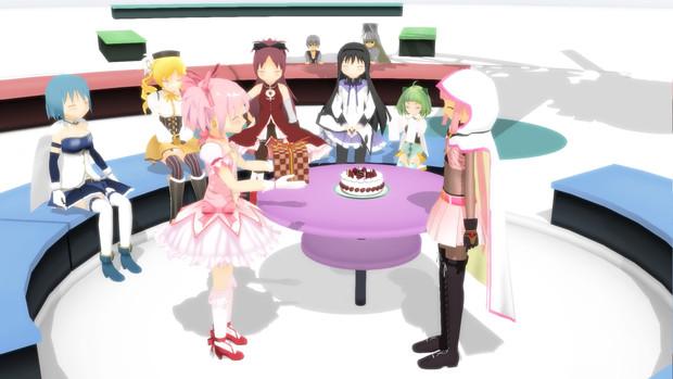 見滝原の魔法少女と誕生日会