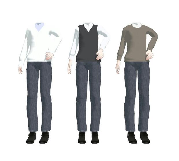 セーター男性用【MMD着せ替え用衣装】