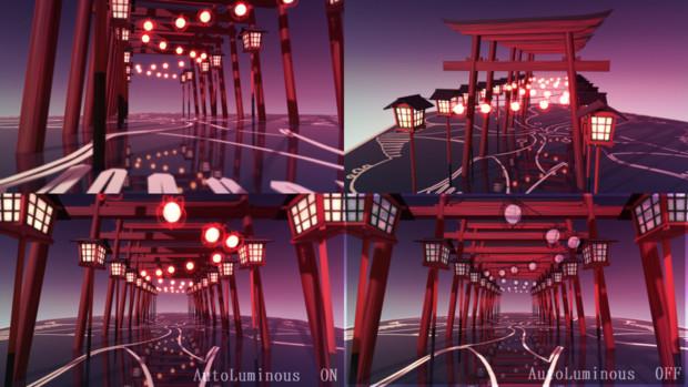 【MMD】鳥居と鬼燈【ステージ配布】