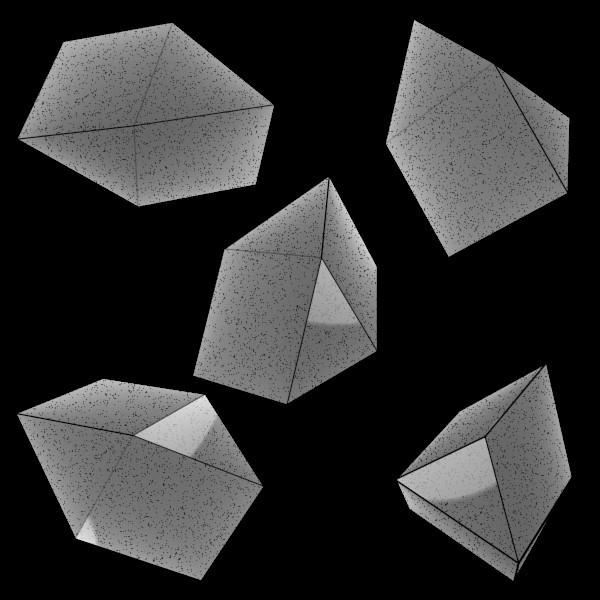 異相双三角柱の蒟蒻 / k45mm さ...