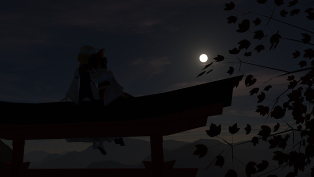 【東方ニコ楽祭・月見】神社にて その後