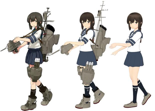 磯波【MMD艦これ改造モデル】比較(とらはぜフガク式 改変)