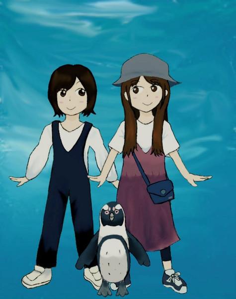 ケープペンギンと一緒