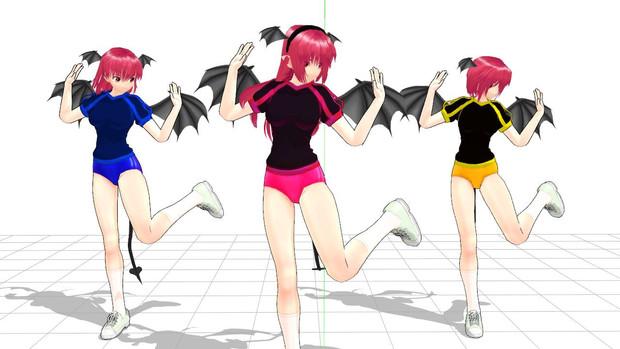 黒い三連小悪魔姉妹。