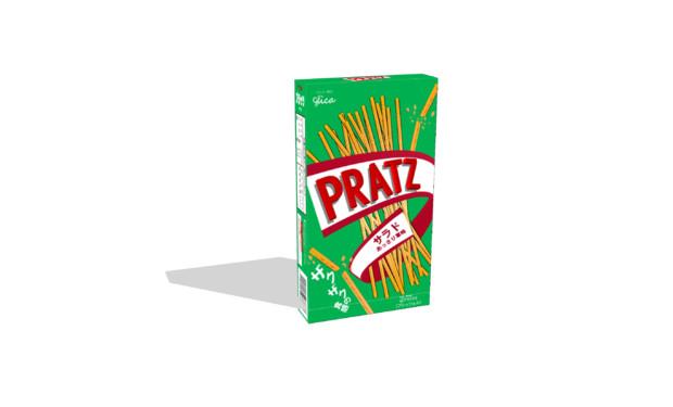 【MMDアクセサリ配布】プリッツの箱のような何か「プラッツ」