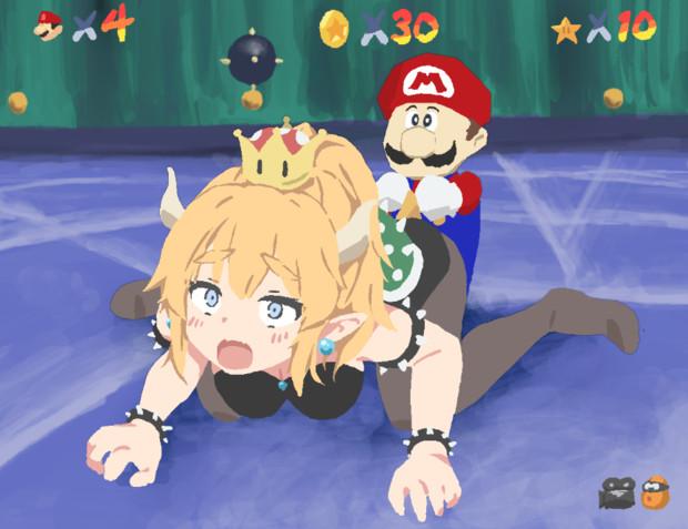 マリオ64のプレイ画面