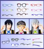 【MMD】眼鏡セット【アクセサリ配布】