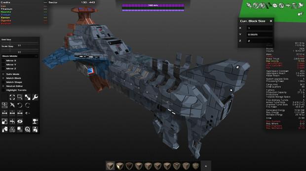 UFBS-010 ヘイムダル級宇宙戦艦 (進捗度30%程度)