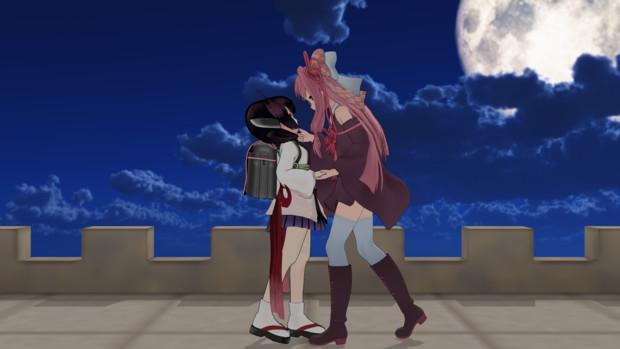 「月が…綺麗ですね…」「きりたんのほうが綺麗やで」