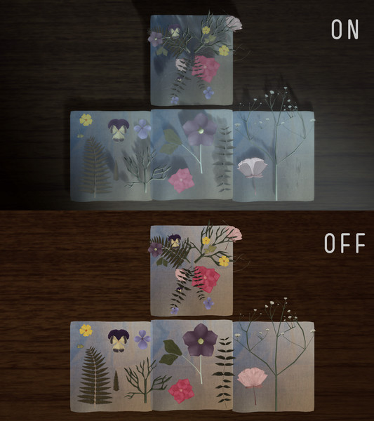 【MMD】 押し花 【配布】