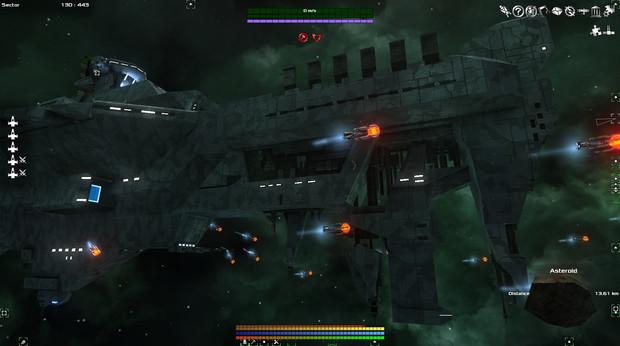 UFBS-010 ヘイムダル級宇宙戦艦 艦載機発艦 エフェクトましまし(進捗度70%程度)