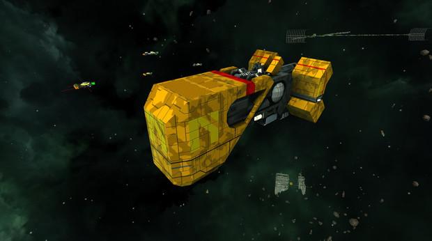 ゲーム「Nimbatus - The Space Drone Constructor」 の宇宙船