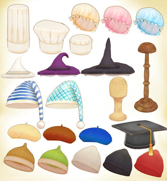 いろいろ帽子セットver1.0