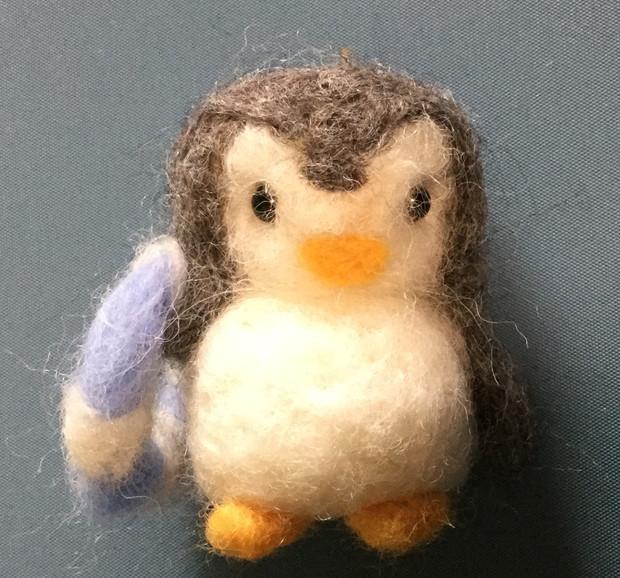 【羊毛フェルト】100円ショップのペンギン