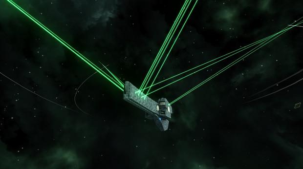 帝国軍標準型戦艦 副砲斉射