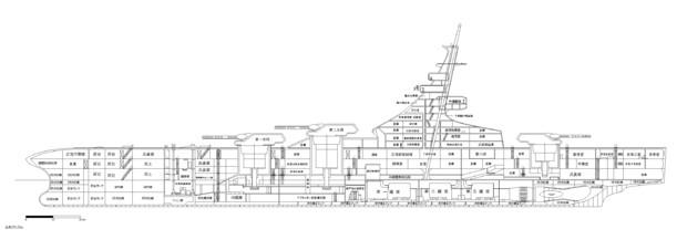 ミスリル級魔導戦艦 一般艤装図(β版)