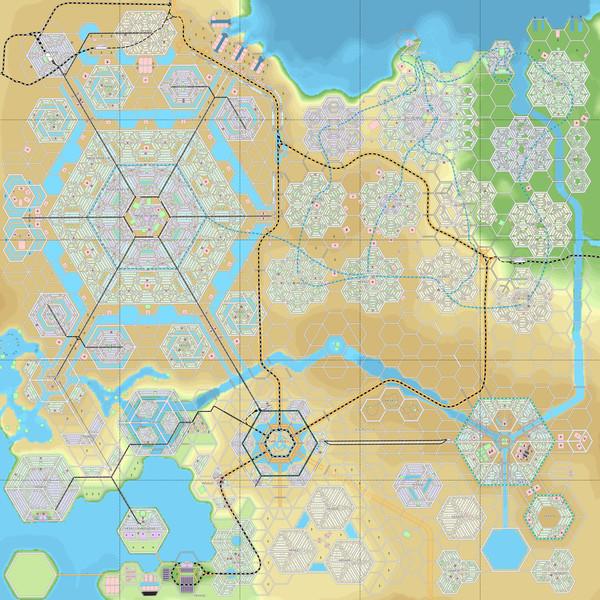 【CitiesSkylines】六角形の区画だけで街をつくる_東エリア完成EP30時点