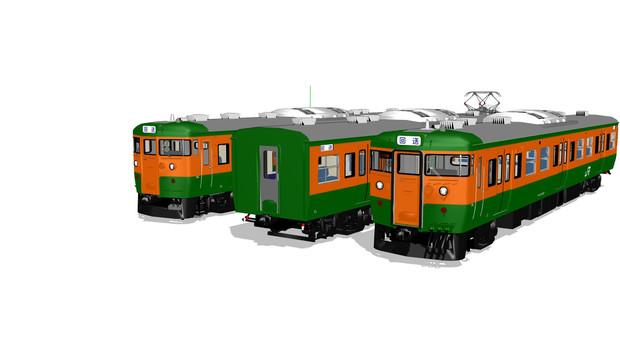 【MMDモデル配布】高崎車両センター所属115系T1040編成