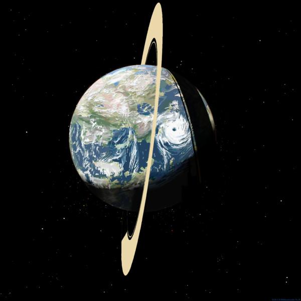 環のある地球型惑星