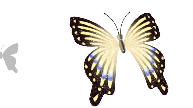 【MMDアクセアリ配布あり】はばたく蝶