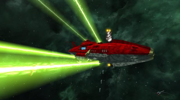 金剛型宇宙戦艦『きりしま』 「全砲門開け……撃て!」