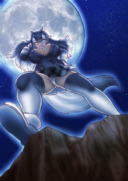 「月が・・綺麗だね・・・。」