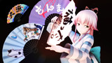 【MMD】零式扇子1.3用 艦これ用猫と秋刀魚の柄【アクセサリ用tex配布】